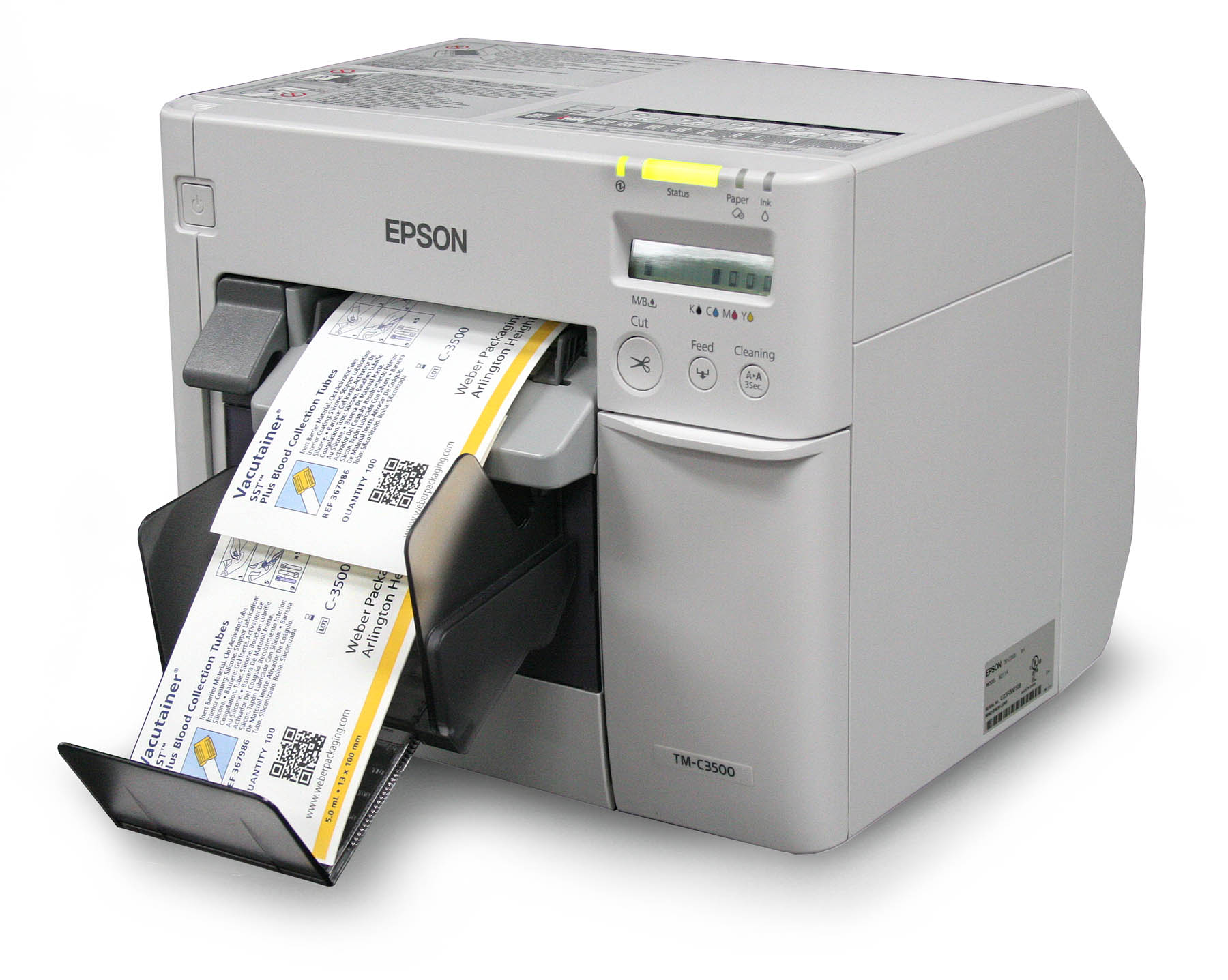 Epson C3500 ink jet label printer